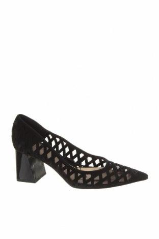 Încălțăminte de damă Zara, Mărime 37, Culoare Negru, Velur natural, Preț 244,25 Lei