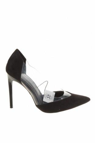 Дамски обувки Zara, Размер 37, Цвят Черен, Текстил, полиуретан, Цена 44,25лв.