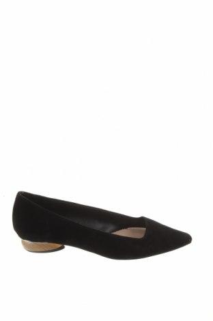Дамски обувки Zara, Размер 37, Цвят Черен, Естествен велур, Цена 34,65лв.