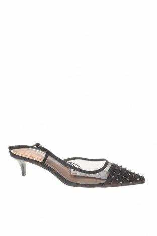 Дамски обувки Zara, Размер 37, Цвят Черен, Текстил, Цена 14,75лв.