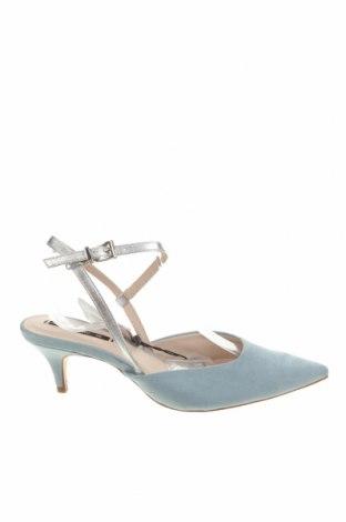 Дамски обувки Zara, Размер 36, Цвят Син, Текстил, еко кожа, Цена 17,25лв.