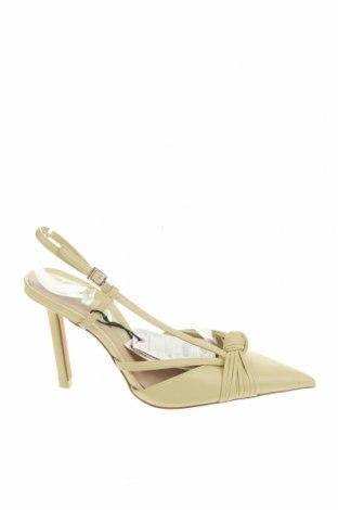 Дамски обувки Zara, Размер 36, Цвят Жълт, Еко кожа, Цена 19,75лв.
