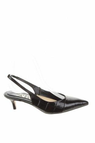 Дамски обувки Zara, Размер 36, Цвят Черен, Естествена кожа, Цена 24,75лв.