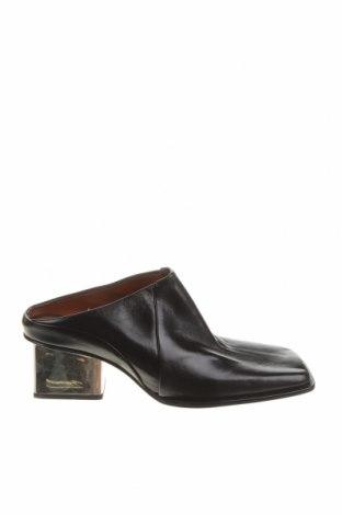 Чехли Zara, Размер 38, Цвят Черен, Естествена кожа, Цена 69,02лв.
