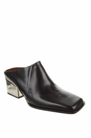 Чехли Zara, Размер 38, Цвят Черен, Естествена кожа, Цена 83,40лв.