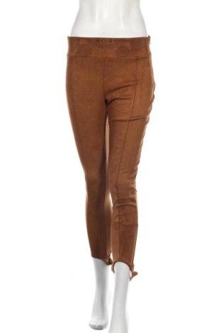 Дамски панталон Desigual, Размер XL, Цвят Кафяв, 95% полиестер, 5% еластан, Цена 41,65лв.