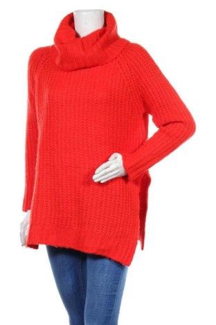 Дамски пуловер Addax, Размер M, Цвят Червен, 73% акрил, 19% полиамид, 8% други нишки, Цена 17,06лв.