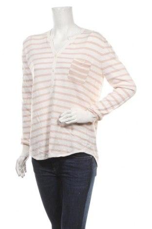 Дамски пуловер Allude, Размер L, Цвят Екрю, 60% памук, 40% кашмир, Цена 64,68лв.