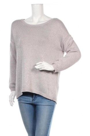 Дамски пуловер Apricot, Размер L, Цвят Сив, 78% памук, 22% метални нишки, Цена 8,82лв.