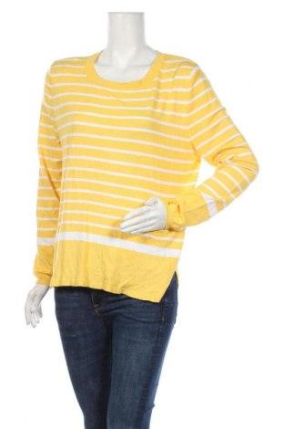 Дамски пуловер Essentials by Tchibo, Размер L, Цвят Жълт, 80% вискоза, 20% полиамид, Цена 8,51лв.