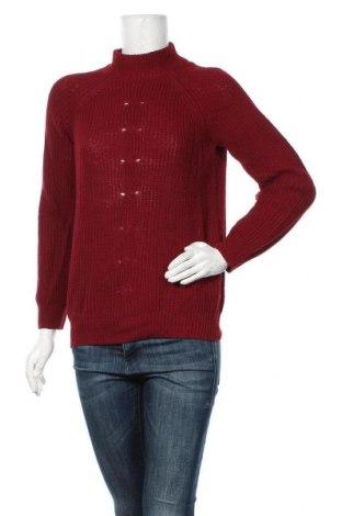 Дамски пуловер Essentials by Tchibo, Размер S, Цвят Червен, 65% памук, 31% полиакрил, 4% вълна, Цена 6,30лв.