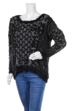 Дамски пуловер Yessica, Размер M, Цвят Черен, Цена 28,35лв.