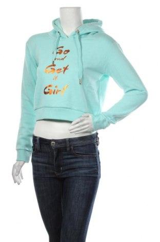 Дамски суичър MyMO, Размер S, Цвят Зелен, 65% полиестер, 35% памук, Цена 31,05лв.