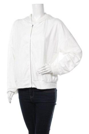 Дамски суичър Usha, Размер XL, Цвят Бял, 98% памук, 2% еластан, Цена 24,96лв.