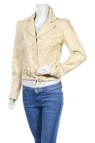 Γυναικείο δερμάτινο μπουφάν Vero Moda, Μέγεθος M, Χρώμα  Μπέζ, Γνήσιο δέρμα, Τιμή 58,46€