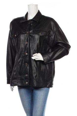 Dámská kožená bunda  Zara, Velikost XL, Barva Černá, Eko kůže, Cena  710,00Kč