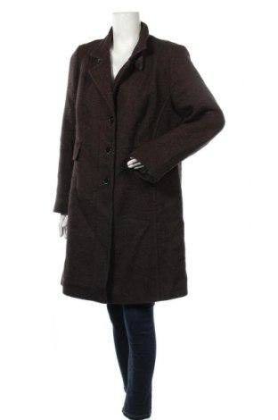 Дамско палто Adagio, Размер XL, Цвят Кафяв, 50% акрил, 25% вълна, 20% полиестер, 5% други тъкани, Цена 39,40лв.