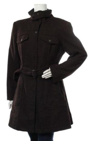 Дамско палто Apanage, Размер L, Цвят Кафяв, 80% вълна, 20% полиамид, Цена 64,26лв.