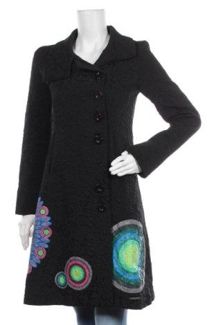 Dámský kabát  Desigual, Velikost M, Barva Černá, 64% bavlna, 36% polyester, Cena  1530,00Kč