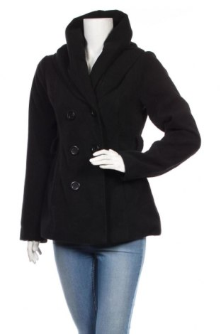 Дамско палто Jennifer Taylor, Размер M, Цвят Черен, 58% полиестер, 11% вискоза, 1% еластан, Цена 41,16лв.