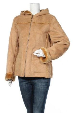 Дамско палто My Own, Размер M, Цвят Бежов, Полиестер, Цена 67,20лв.