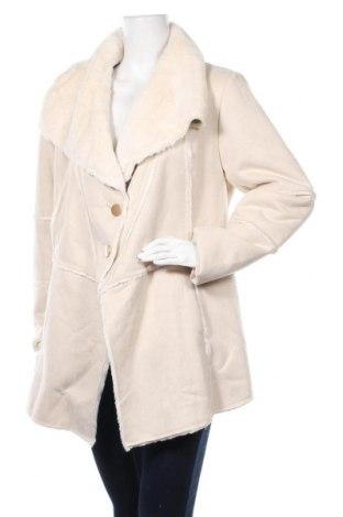 Дамско палто Rinascimento, Размер XL, Цвят Бежов, Полиестер, Цена 207,35лв.