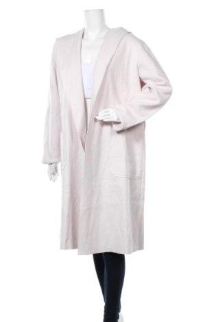 Дамско палто Rinascimento, Размер L, Цвят Бежов, 57% полиестер, 39% акрил, 4% вълна, Цена 168,35лв.
