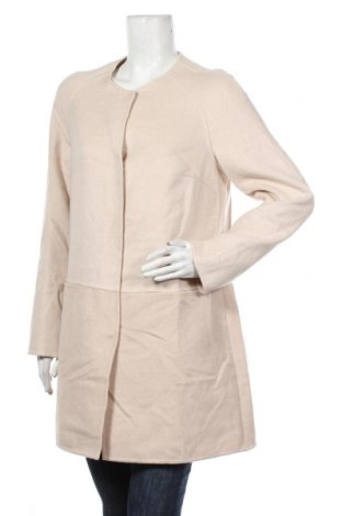 Дамско палто S.Oliver, Размер M, Цвят Бежов, 45% вълна, 40% полиестер, 15% вискоза, Цена 125,30лв.