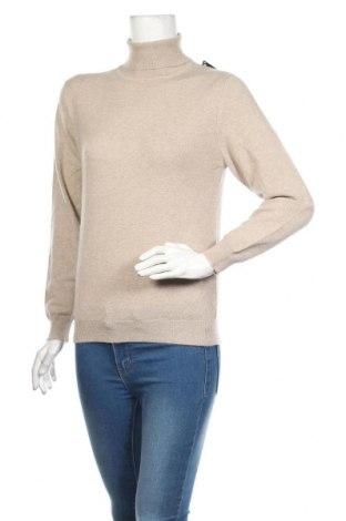 Дамски пуловер Kirkland, Размер S, Цвят Бежов, Кашмир, Цена 72,45лв.