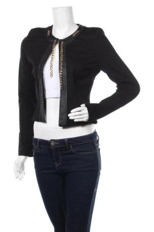 Дамско сако Rinascimento, Размер S, Цвят Черен, Вискоза, полиамид, еластан, еко кожа, Цена 42,25лв.