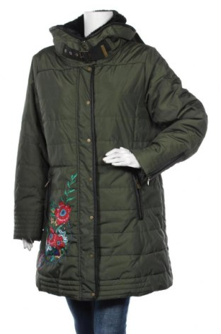 Дамско яке Desigual, Размер XXL, Цвят Зелен, Полиестер, Цена 175,05лв.
