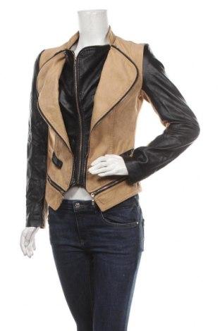 Дамско яке Orice Style, Размер M, Цвят Бежов, Полиестер, еко кожа, Цена 39,90лв.