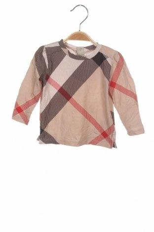 Детска блуза Burberry, Размер 6-9m/ 68-74 см, Цвят Бежов, 93% памук, 7% еластан, Цена 40,50лв.