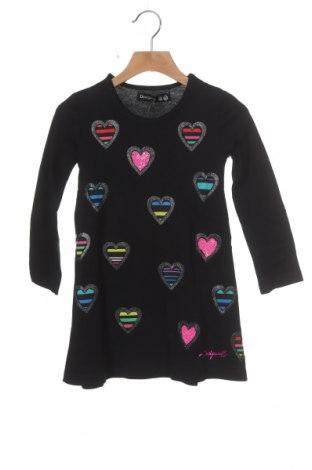 Dětské šaty  Desigual, Velikost 2-3y/ 98-104 cm, Barva Černá, Bavlna, Cena  402,00Kč