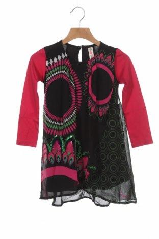 Dětské šaty  Desigual, Velikost 2-3y/ 98-104 cm, Barva Vícebarevné, Polyester, Cena  402,00Kč