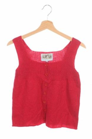 Dětská vesta , Velikost 11-12y/ 152-158 cm, Barva Červená, 80% vlna, 20% polyamide, Cena  574,00Kč