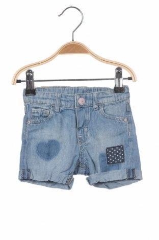 Pantaloni scurți pentru copii H&M, Mărime 3-6m/ 62-68 cm, Culoare Albastru, Bumbac, Preț 51,81 Lei