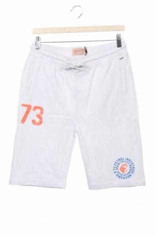 Детски къс панталон Petrol Industries, Размер 15-18y/ 170-176 см, Цвят Бял, Памук, Цена 20,80лв.