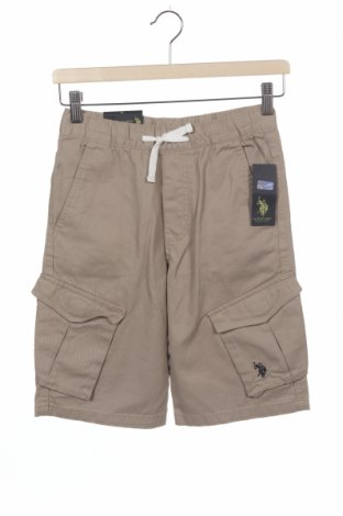 Dětské krátké kalhoty  U.S. Polo Assn., Velikost 9-10y/ 140-146 cm, Barva Béžová, Bavlna, Cena  204,00Kč