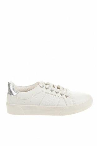 Детски обувки Bershka, Размер 35, Цвят Бял, Еко кожа, Цена 31,50лв.