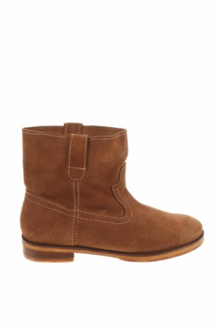 Детски обувки Zara, Размер 32, Цвят Бежов, Естествен велур, Цена 26,70лв.