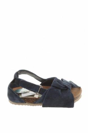 Детски сандали Zara, Размер 23, Цвят Син, Естествен велур, Цена 59,25лв.