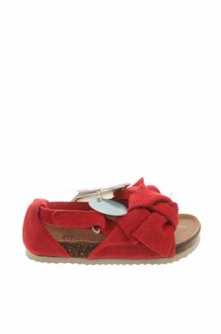 Детски сандали Zara, Размер 21, Цвят Червен, Естествен велур, Цена 59,25лв.