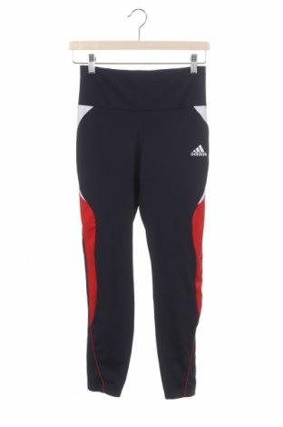 Dětské sportovní legíny  Adidas, Velikost 12-13y/ 158-164 cm, Barva Modrá, 83% polyester, 17% elastan, Cena  510,00Kč