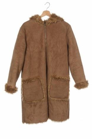 Dětský kabát , Velikost 15-18y/ 170-176 cm, Barva Hnědá, 51% polyester, 49%acryl, Cena  829,00Kč
