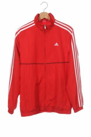 Dětská horní část sportovní soupravy Adidas, Velikost 15-18y/ 170-176 cm, Barva Červená, 100% polyester, Cena  399,00Kč