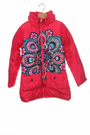 Dětská bunda  Desigual, Velikost 10-11y/ 146-152 cm, Barva Růžová, Polyester, Cena  1298,00Kč