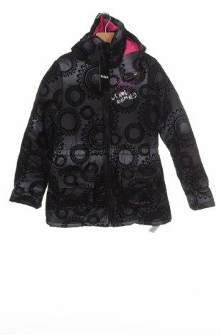 Dětská bunda  Desigual, Velikost 12-13y/ 158-164 cm, Barva Černá, Polyester, Cena  1837,00Kč
