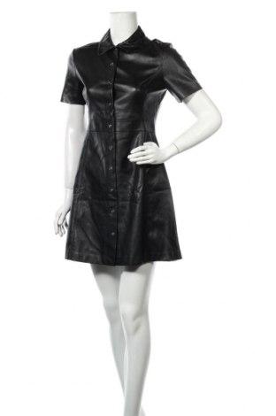 Кожена рокля Mango, Размер M, Цвят Черен, Еко кожа, Цена 21,84лв.