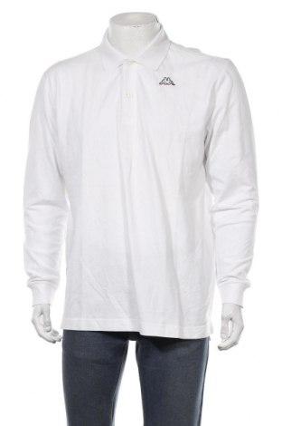 Мъжка блуза Kappa, Размер L, Цвят Бял, Памук, Цена 19,95лв.